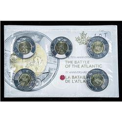 RCM Battle of the Atlantic 5 x 2.00 Coin  Folio