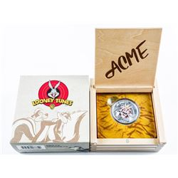 RCM Looney Tunes Merrie Melodies .9999 Fine  Silver$20.00 Coin with Display LE. Sold Out  Issue