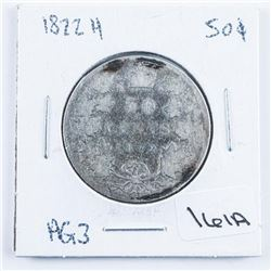 1822H Canada Silver 50 Cent AG3