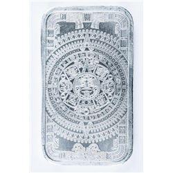 Aztec Calendar .999 Fine Silver Bar. 1oz.  Very Collectible.