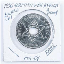 1936 British West Africa Edward VIII MS64  'Rare' Penny