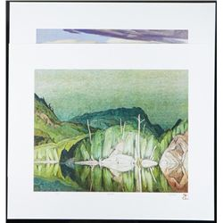 """A.J. Casson (1898-1992) 'The White Series' 2  Images Northern Visits'' LE/ Rare #1/250  18x21"""" Folio"""