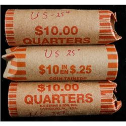 Lot (3) Rolls USA 25 Cents - 120 Coins