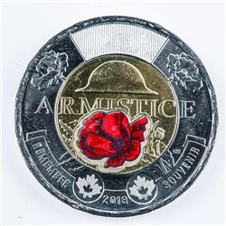 RCM Special Issue 2018 2.00 Coin with RED  POPPY UNC