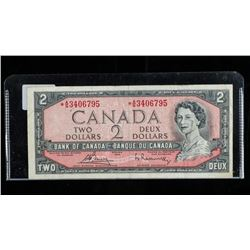 Bank of Canada 1954 * Replacement (AG) 2.00  Modified Portrait B/R