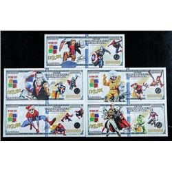 Group (5) Stan Lee Collector Million Dollar  Notes