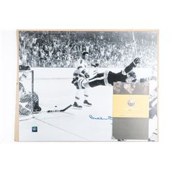 BOBBY ORR - 1970 The Goal 16x20 Vintage Black  and White Signed Photo