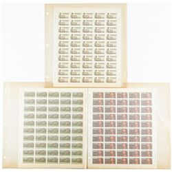Group of Uncut Mint Stamp Sheets - Approx 300  Canada Stamps with Inventory book
