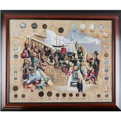 Coins of the 20th Century Framed