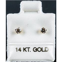 Ladies 14kt Gold Diamond Stud Earring .17ct  Appraised: $1170.00