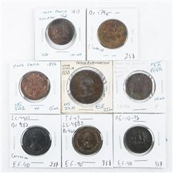Group of (8) CANADA Early Tokens, Identified