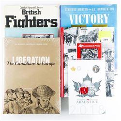 Lot World War Books Worldwide, Plus 2018 RCM  Armistice Coin Folio