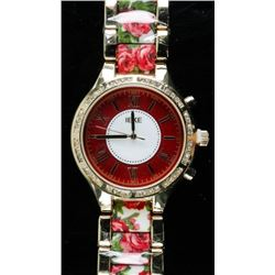 Ladies Quartz watch Fancy Dial with Rose  Bracelet Design