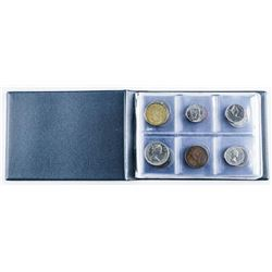 Stock Book with 24 Coins, Includes Silver