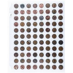 Group of Canada and USA 1 Cent Coins (88)  Mixed