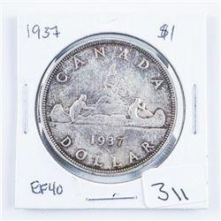 1937 Canada Silver Dollar EF40
