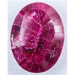 Loose Gemstone 6.23ct Oval Cut Ruby TRRV:  $1870.00