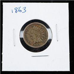 1863 USA Indian Head Penny