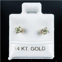 14kt Gold Diamond Stud Earrings .26ct  Appraised:$1225.00