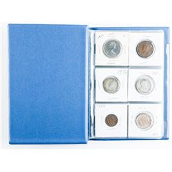 Coin Stock Book 12 Coins with Silver