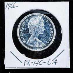 CAnada 1966 Silver 50 Cent PL-HC-67 (MXR)