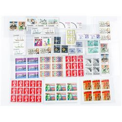 Group of Canada Mint Stamps - Blocks, Triples  Singles etc Mixed