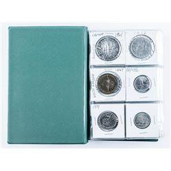 Estate Coin Stock Book with Silver. 60pc.