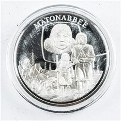 925 Solid Sterling Silver 'Matonabee' Proof  Medal