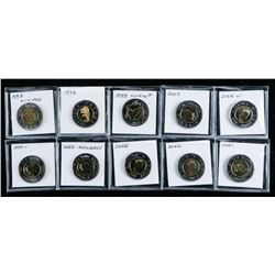 Group of (10) Canadian 2.00 Coins '1997-2003'  'Silver'