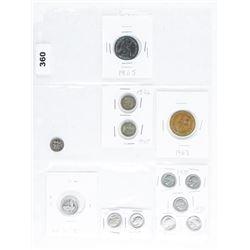 USA Lot Mixed Coins 1865, 1926, 1945, 1967,  1970's