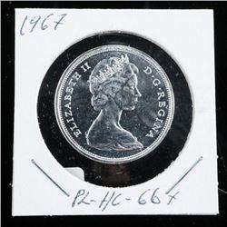 1867-1967 Silver 50 Cent PL-HC-66 (GR)