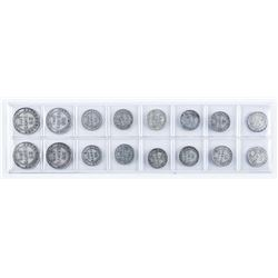 Group (16) Silver Coins of NFLD