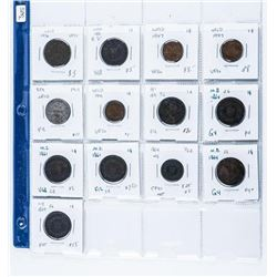 Group of (13) Coins, NFLD, Nova Scotia, New  Brunswick, and P.E.I. - Large and Small Cents