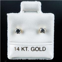 Ladies 14kt Gold Diamond Stud Earrings  Appraised:$1170.00