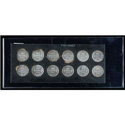 Group (12) 925 Silver NFLD 10 Cents