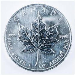 RCM .999 Fine Silver $5.00 Coin Maple Leaf  1oz. 2006.
