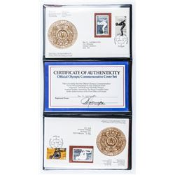 Official Olympic Cover Set - 2x .999 Fine  Silver Olympic Stamps with Covers, Folio