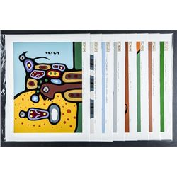 Christian Morrisseau (1969-) Collector From  the Elements .9999 Fine Silver leaf Embossed  Litho's M