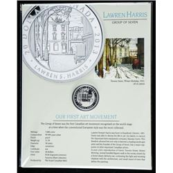 Lawren Harris Toronto Street, Winter Morning  1920 .9999 Fine Silver $20.00 Coin LE with  C.O.A. and