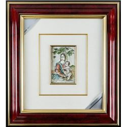 """ITALY 925 Sterling Silver Picture Framed  (sxr) 17x20"""""""