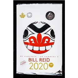 RCM 2020 Bill Reid 100 Year Special Issue UNC  Coin Folio with Coloured 2.00
