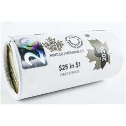 RCM Special LE Wrap Roll 2020 - Loon Dollar  Coin. 25 x 1.00 'First Strikes'