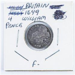Great Britain 1699 4 Pence William (F)