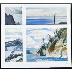 """A.J. Casson (1898-1992) Superior Country 4  Giclee Folio 12x13"""" Unframed with C.O.A.  Matched LE"""