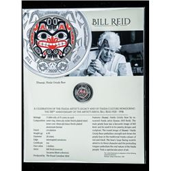RCM 100th Anniversary of Death of 'Bill Reid'  Special Release of a 2.00 Coin with HAIDA  Grizzly Be