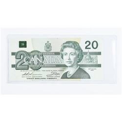 1991 Bank of Canada 20.00 Choice UNC With  Serial
