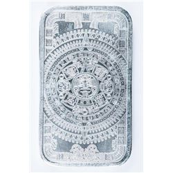 Aztec Calendar .999 Fine Silver Bar. 1oz.  Very Collectible