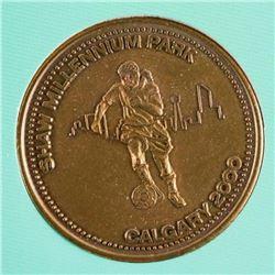 Calgary 2000 Soccer Coin