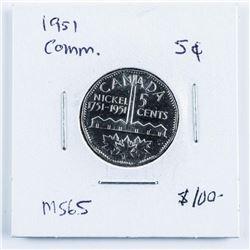 1951 Commemorative Canada 5 Cents MS65