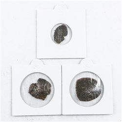 Group of (3) Byzantine Empire Cup Shape Coins  Medieval Times